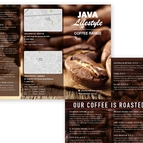 Java Lifestyle Coffee & Tea Coffee Brochure