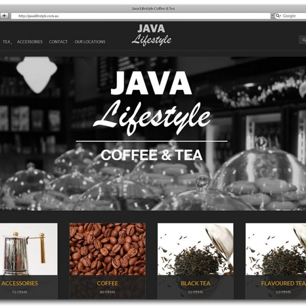 Java Lifestyle Coffee & Tea Website